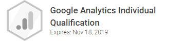 Julian F. Christmas er certificeret i Google Analytics