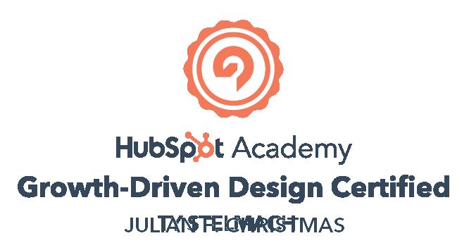 Julian F. Christmas er certificeret i Hubspot - Growth-Driven Design